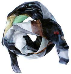 """""""Portabello Snaps"""" silk scarf - by Good&Co"""
