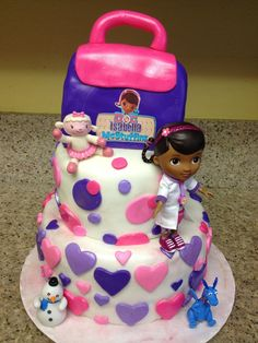 doc mcstuffins birthday cakes | doc mcstuffins inspired fondant cake toppers mcstuffins par