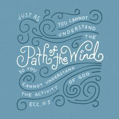 As you do not know the path of the wind, or how the body is formed in a mother's womb, so you cannot understand the work of God, the Maker of all things. -Ecc. 11:5 #Godisgreat #truth