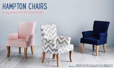adairs Hampton chair in navy for reading corner