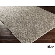 Hand-Woven Lewis Indoor Rug (6' x 9') (Black), Brown Taupe, Size 6' x 9' (Silk, Nature) #IndoorRugs