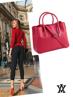 Italian leather handbags  Code: MILANO red shoponline➡️www.adelevian.com