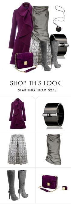 """Purple/Gray/Black"" by justjules2332 ❤ liked on Polyvore featuring Pied a Terre, Reed Krakoff, Prada, Donna Karan, Pollini and ISLO"