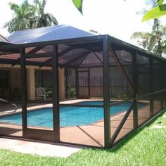 Adding a screened in pool enclosure over your pool or outdoor entertainment area is a great investment. - Yelp