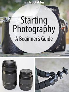 This beginner's guide to photography will cover everything you need to know to get started including choosing & using camera lenses filters and stabilizers as well as how to get the full use of lighting exposure color location timing and composition. Beginners Guide To Photography, Dslr Photography Tips, Photography Lessons, Photography Equipment, Photography Tutorials, Photography Business, Digital Photography, Amazing Photography, Photography Lighting