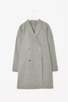 Raw-edged wool coat by COS