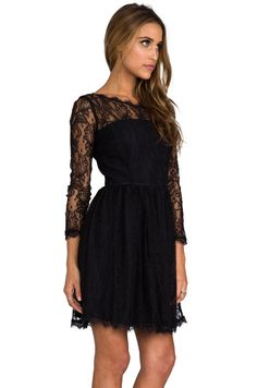 Juicy Couture Delicate Lace Dress in Pitch Black | REVOLVE