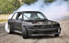 BMW E30 3 series grey drift