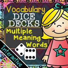 These interactive task cards help students increase their vocabulary knowledge by learning the multiple meanings of various vocabulary words. These task cards target 30 multiple-meaning words (homonyms) with 3 definitions each. DICE DECKS are highly engaging! Have a student roll a die. If it lands on a 1 or 4, task A will be completed. If it lands on a 2 or 5, task B will be completed. If it lands on a 3 or 6, task C will be completed.