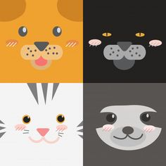 Cute Cartoon Animals, Cute Baby Animals, Harry Potter, Animal Faces, Graphic Illustration, Illustrations, Cute Drawings, Cute Babies, Doodles