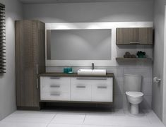 Shelving Ideas and Options for Adding Bathroom Shelving Bathroom Cabinets, Bathroom Storage, Bathroom Interior, Modern Bathroom, Small Bathroom, Bathroom Remodel Cost, New Toilet, Home, Vanity Ideas