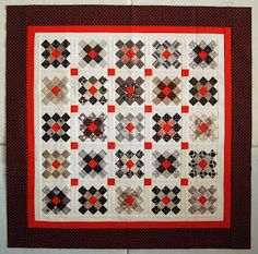 """Oh my!!! 1 1/2"""" squares??? Granny Square Quilt, made with 1 1/2"""" squares"""