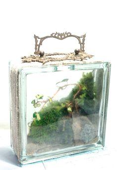 / terrarium tote bag / the slug and the squirrel / Bottle Terrarium, Mini Terrarium, Terrarium Plants, Succulent Terrarium, Plant In Glass, Glass Garden, Garden Art, Garden Junk, Moon Garden