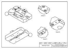 วิจิตร ชัยมงคลมณี : Wijit Chaimongkonmanee: ตัวอย่างแบบงานเขียนแบบ Cad Computer, Isometric Drawing, Mechanical Design, Cad Drawing, Autocad, Drawings, Cnc, Projects, Engineering