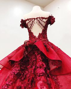 Modest Ball Gown Burgundy Lace Beading Princess Prom Dresses With Appliques VPPNXYC3JQ