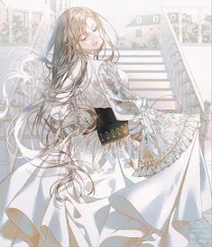 Anime Angel Girl, Cool Anime Girl, Pretty Anime Girl, Beautiful Anime Girl, Anime Art Girl, 5 Anime, Chica Anime Manga, Anime Girl Drawings, Cute Drawings