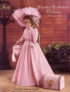 1897 Spring Traveling Costume for Barbie Doll Paradise 46 Crochet PATTERN NEW