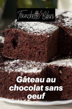 Découvrez notre recette de gâteau au chocolat sans oeuf ! Calories, Desserts, Recipes, Food, Healthy Recipes, Tailgate Desserts, Deserts, Essen, Postres