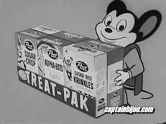 1950s CEREAL COMMERCIAL MIGHTY MOUSE