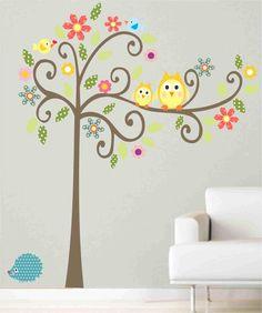 Ádesivo de Parede Árvore Graciosa