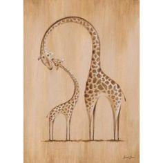 "Safari Kisses - Zebra 14"" High Canvas Wall Art - #6X861 | www.lampsplus.com"