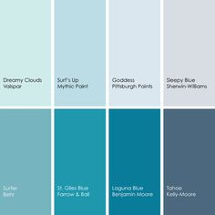 Blue Paint Picks For Bedrooms Clockwise From Top Left 1 Dreamy Clouds