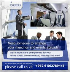 Pioneers  Travel & Tourism Need someone to arrange your meetings and events abroad?