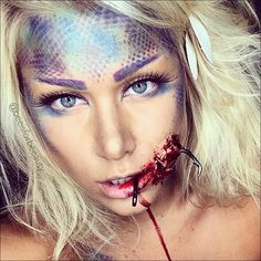 hooked sfx mermaid halloween makeup tutorial WOULD LOVE TO BE THIS!!