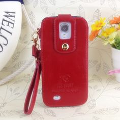 Klogi Case Cover Detachable Hand Strap for Samsung Galaxy S4 - Dark Red