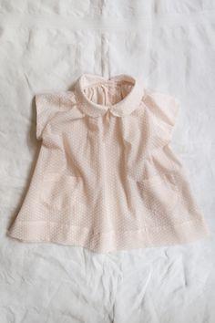 cutest peach dots! / sora dress / makie