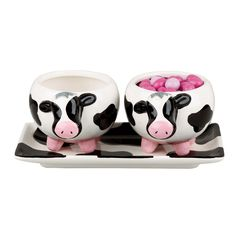 Udderly Cows Serving Tray & Bowls made by Toast the Host.
