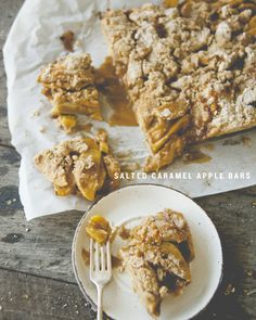 Salted Caramel Apple Bars to ring in the season!