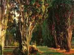 John Singer Sargent - Falconieri Gardens, Frascati 1907