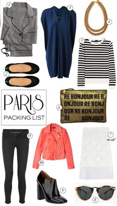 A Paris packing list! cus you have to look adorable when meeting new ppl..lol!