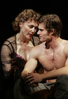 Jan Maxwell and Chris Carmack in Broadway production of Entertaining Mr Sloane (March 2006)