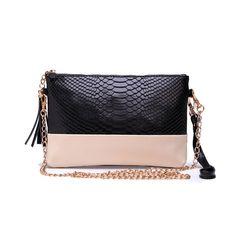 Bolsos de clutch de cuero de cocodrilo original bolso bandolera pequeño con cadena [FK30001] - €8.30 : bzbolsos.com, comprar bolsos online