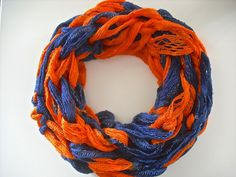 Lightweight Denver Broncos Infinity Scarf by LoopyChicCrochet