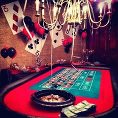 Vegas casino, las vegas party, vegas theme, casino party decorations, c Casino Party Games, Casino Party Decorations, Casino Night Party, Casino Theme Parties, Party Themes, Play Casino, Party Ideas, James D'arcy, James Bond