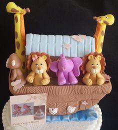 Noah's Ark Cake Topper Noah's Ark Figurine by PartyFavorsMiami