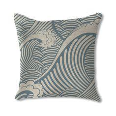 Crashing Waves Throw Pillow   dotandbo.com #DotandBoSummer