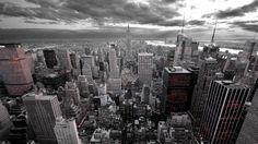 New York City Black and White HD Wallpaper