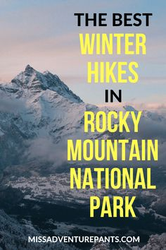 Winter in Rocky Mountain National Park is my favorite time for hiking and snowshoeing. Here are 5 snowy trails with amazing views that are suitable for fit beginners. Care Skin Condition and Treatment Oil Makeup Colorado National Parks, Colorado Hiking, Us National Parks, Rocky Mountain National Park, Winter In Colorado, National Forest, Rocky Mountains, Colorado Mountains, Backpacking Trails