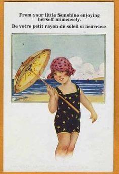 Arthur-BUTCHER-Seaside-Bathing-Girl-w-Sun-Bonnet