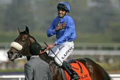 Vale of York, ridden by Ahmed Ajteb, won the 2010 Breeders' Cup Juvenile thoroughbred horse race by a nose at Santa Anita Park in California. Photo courtesy of Jonathan Alcorn/AFP/Getty Images