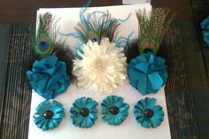 hairpieces and ribbon boutonnieres