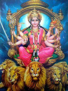 Durga Maa by simon_ram, via Flickr