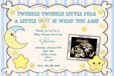 Baby Shower Invitations- Twinkle Twinkle Little Star Baby Shower Invitations- boy or girl