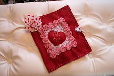 Kit costura em feltro - vermelho