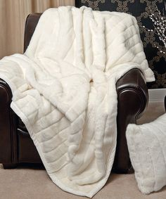 Love This White Mink Faux Fur Lounge Throw By Best Home Fashion On Zulily