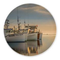 #fishing - #Handle of door photo fishing vessels ceramic knob